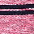 Pure Cotton Striped Polo Shirt, PINK MIX, swatch