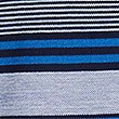 Pure Cotton Striped Polo Shirt, BLUE MIX, swatch