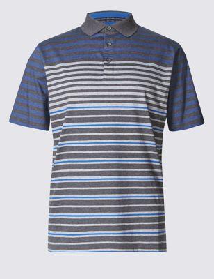 Рубашка-поло с коротким рукавом в полосочку