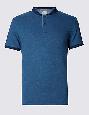 Pure Cotton Tailored Fit Spotted Polo Shirt