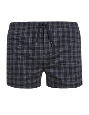 Quick Dry Checked Swim Shorts