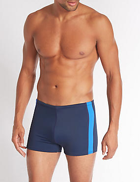 Quick Dry Hipster Trunks, NAVY MIX, catlanding