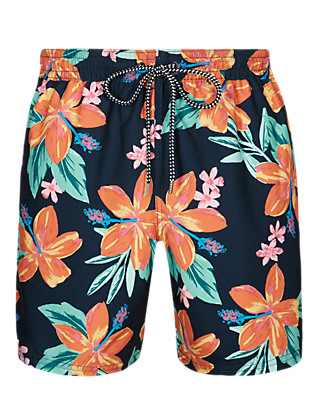 Quick Dry Printed Swim Shorts Clothing