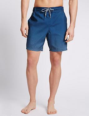 Quick Dry Dip Dye Swim Shorts, NAVY MIX, catlanding
