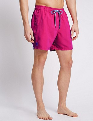 Quick Dry Swim Shorts, PINK, catlanding
