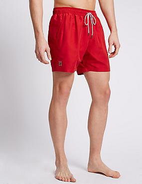 Quick Dry Swim Shorts, RED, catlanding