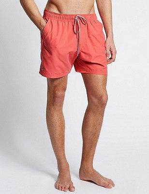 Quick Dry Swim Shorts, CORAL, catlanding