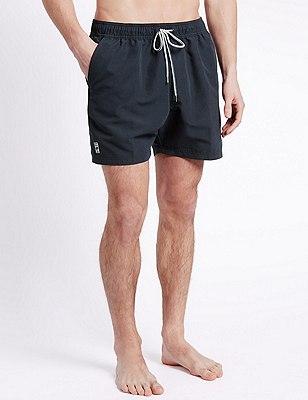 Quick Dry Swim Shorts, NAVY, catlanding