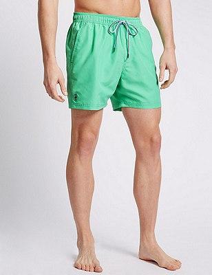 Quick Dry Swim Shorts, GREEN, catlanding