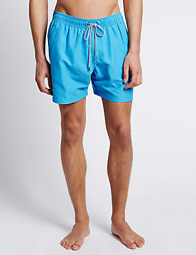 Quick Dry Swim Shorts, AZURE BLUE, catlanding