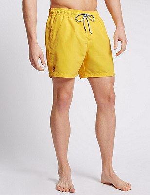 Quick Dry Swim Shorts, YELLOW, catlanding