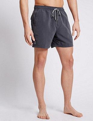 Quick Dry Swim Shorts, GREY, catlanding