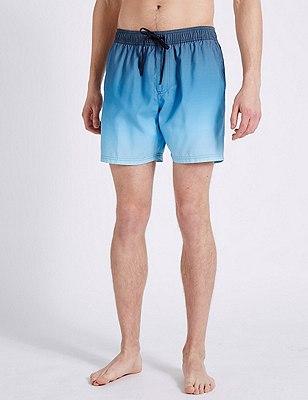 Quick Dry Dip Dye Swim Shorts, BLUE MIX, catlanding