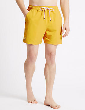 Quick Dry Swim Shorts, YELLOW, catlanding