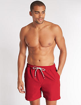 Big & Tall Quick Dry Swim Shorts, RED, catlanding