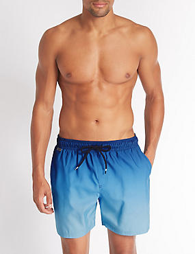 Dip Dyed Quick Dry Swim Shorts, BLUE MIX, catlanding