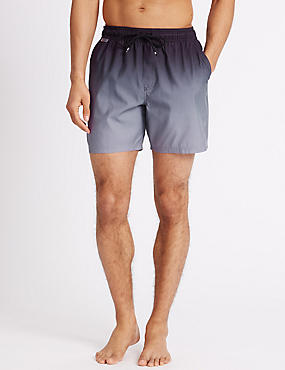 Dip Dyed Quick Dry Swim Shorts, GREY MIX, catlanding