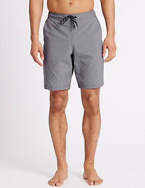 Cotton Rich Quick Dry Swim Shorts, GREY MIX, catlanding