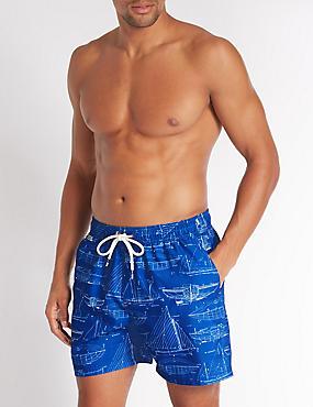 Quick Dry Swim Shorts, COBALT, catlanding