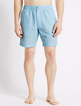 Quick Dry Seersucker Swim Shorts, BLUE MIX, catlanding