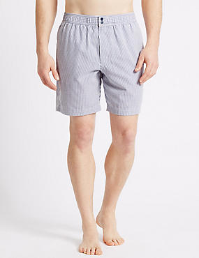 Quick Dry Seersucker Swim Shorts, NAVY MIX, catlanding