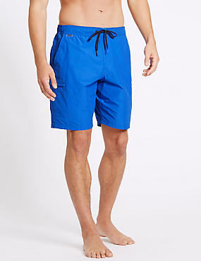 Cotton Rich Quick Dry Swim Shorts, COBALT, catlanding