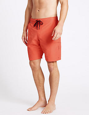 Cotton Rich Quick Dry Swim Shorts, CORAL, catlanding