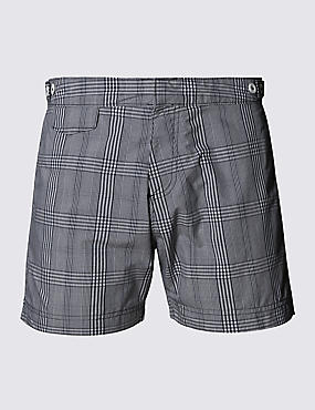 Tailored Fit Mid Length Quick Dry Swim Shorts