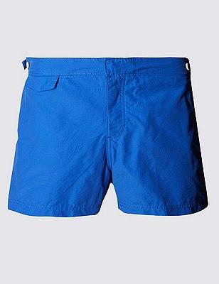 Tailored FitShortLengthQuick Dry Swim Shorts, COBALT, catlanding