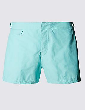 Tailored FitShortLengthQuick Dry Swim Shorts, AQUA MARINE, catlanding
