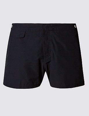 Tailored FitShortLengthQuick Dry Swim Shorts, BLACK, catlanding
