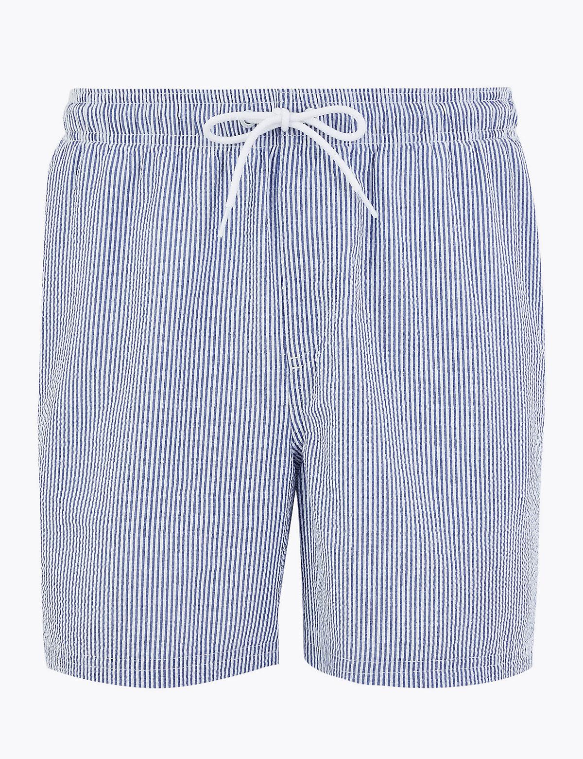 Быстросохнущие плавательные шорты в полоску