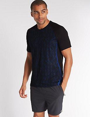 Slim Fit Quick Dry Active T-Shirt, BLACK MIX, catlanding