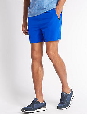 Quick Dry Active Shorts with Secure Pocket, BRIGHT BLUE, catlanding