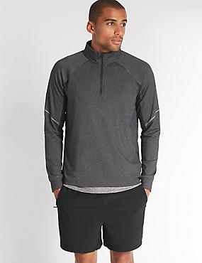 Lightweight Active Sweatshirt, BLACK MIX, catlanding