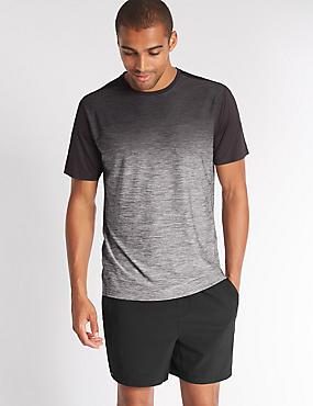 Quick Dry Active T-Shirt, GREY MIX, catlanding