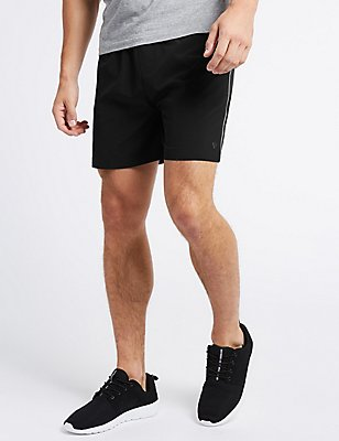 Slim Fit Swim Shorts, BLACK, catlanding