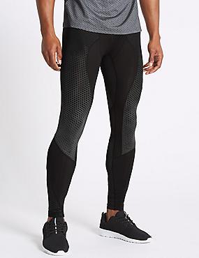 Active Quick Dry Printed Leggings, BLACK, catlanding