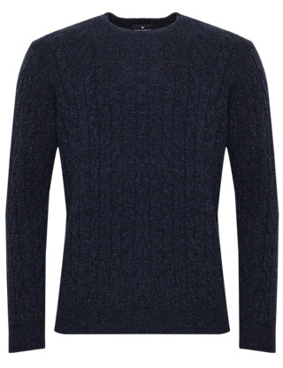 Extrafine Pure Lambswool Twisted Cable Knit Jumper Clothing