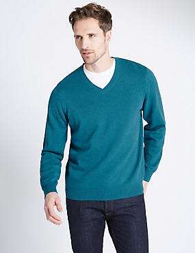 Pure Cotton Jumper, DARK TEAL, catlanding