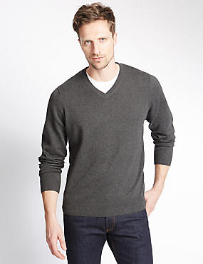 Pure Cotton Jumper, GREY, catlanding