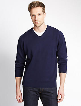 Pure Cotton Jumper, INDIGO, catlanding