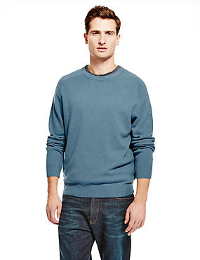 Pure Lambswool Jumper, PEACOCK, catlanding
