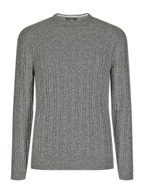 Pure Lambswool Cable Knit Jumper