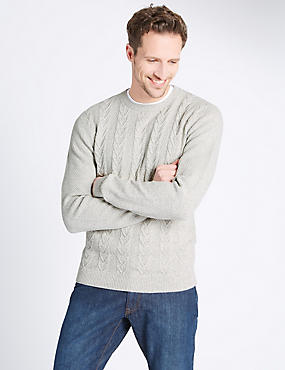 Pure Cotton Textured Jumper, ECRU MIX, catlanding