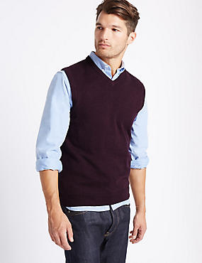 Pure Cotton Slipover Jumper, AUBERGINE, catlanding
