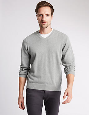 Pure Cotton Jumpers, LIGHT GREY, catlanding