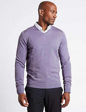 Pure Merino Wool Jumper, LILAC, catlanding