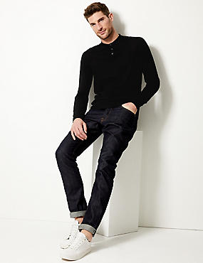 Pure Merino Wool Polo Shirt, BLACK, catlanding