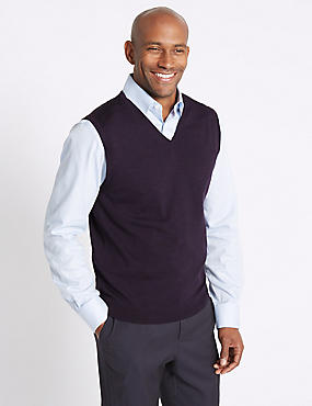 Pure Merino Wool Slipover Jumper, PURPLE, catlanding